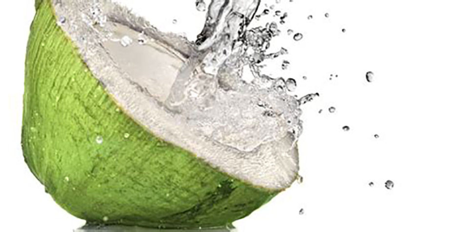 Eau de coco or coconut water.